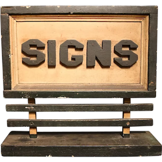 """Signs"" Sample Billboard"