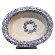 Antique Large Spatter/Spongeware Bowl
