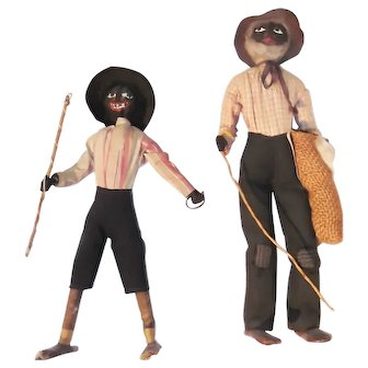 Two Figures of Cotton Farm Workers