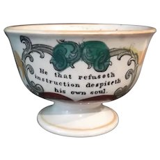 19th Century Lustre and Transfer Printed Footed Bowl