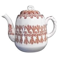 19th Century Spongeware Teapot