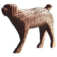 A Carved Poodle by Aaron Mountz (1873 – 1949)