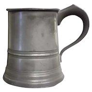 19th century James Yates Half Pint Pewter Tankard