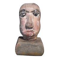 Early Manikin or Puppet Head