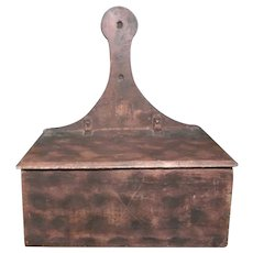 Lidded Wall Box with Lollipop Back from New York State
