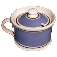 Mochaware Mustard Pot