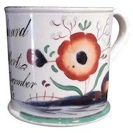 Antique Gaudy Welsh 1842 Mug