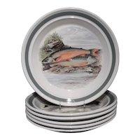 Portmeirion Compleat Angler Range Set of Six Dinner Plates