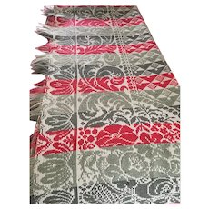 Tricolour Antique Reversible Jacquard Coverlet