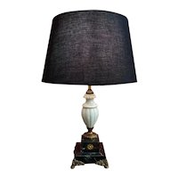 Empire Style Desk Lamp In Onyx And Marble 20th Century