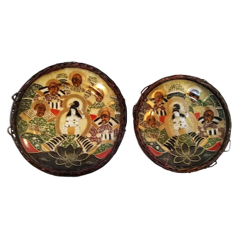 Pair of Early 20th Century Porcelain Satsuma Plates