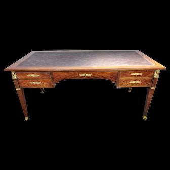 19th Century Empire Retour d'Egypte Mahogany and Bronze Bureau Plat Desk