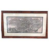 FREE SHIPPING Plan of Rome Matteo Merian 1640