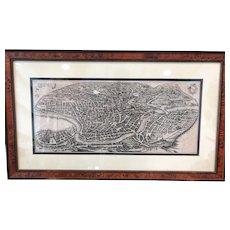 Plan of Rome Matteo Merian 1640