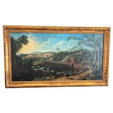 Oil On Canvas Landscape Of The 19th Century