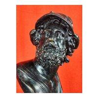 Sculpture Bust Grand Tour H 37 Cm Menelaus 19th Century