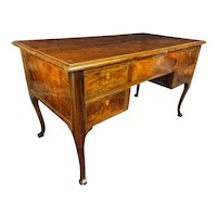 Louis XV Desk In Solid Walnut 18th Century