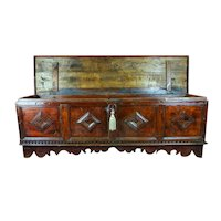 Large Genoese Chest In Walnut 17th Century