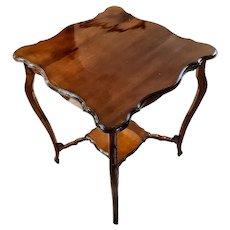 19th Century Mahogany English Small Table Restored