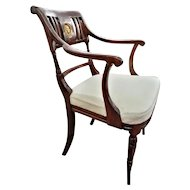 FREE SHIPPING Pair of Late 18th Century Directoire Mahogany Armchairs RESTORED