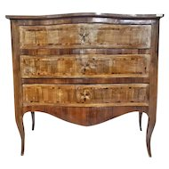 FREE SHIPPING Late 19th Century Napoleon III Walnut Inlaid Chest of Drawer and Bedside Tables