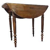 19th Century Regency Walnut Scottish Drop-Leaf Table RESTORED