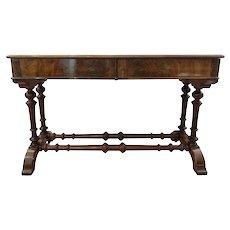 FREE SHIPPING 19th Century Regency Walnut Root English Writing Desk