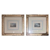 FREE SHIPPING Pair of 19th Century Italian Paintings 1800 Landscape
