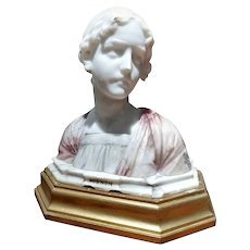 Early 20th Century Art Nouveau Marble Giuseppe Bessi (1857-1922) Bust