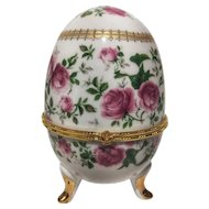 FREE SHIPPING 20th Century Art Deco Porcelain and Gilt Bronze Egg
