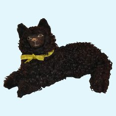 Paper mâche  French black  Lou-lou  dog
