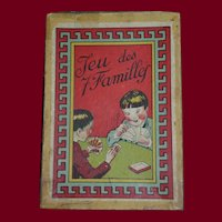7 families French antique card game