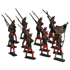 CBG French soldier lead figures circa 1900