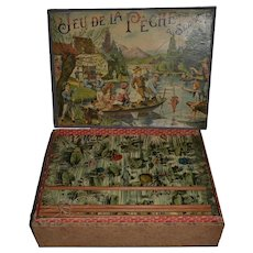 French fishing antique game by SAUSSINE