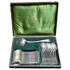 Christofle  France 25 pieces silver plated flatware set