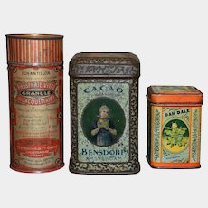 Group of 3 tin box circa 1900/1920