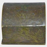Antique French cardboard litho powder box