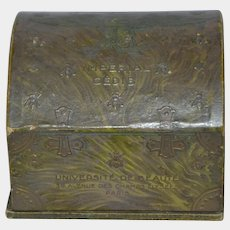 Antique French cardboard litho powder box