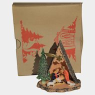 Diorama  hard plastic nativity scene circa 60's