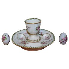 French18th century style, wonderful egg-cup set in perfect condition