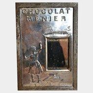 From France rare  chocolat meunier circa 1900 mirror