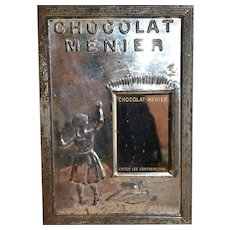 From France rare  chocolat meunier circa 1900 mirror