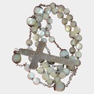 1898 Rosary silver and mother of pearl