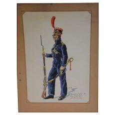 Watercolor seaman from Napoléon guard