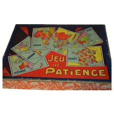 1920 Rare complete  set  of puzzle blocks with maps