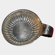 """Antique French Sterling Silver """"Tastevin"""" or Wine Tasting Cup, 35gm"""