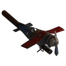 Early plane whistle tin toys