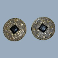 1880 Pair of antique victorian buttons