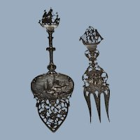 Set of silver fork and spoon from Holland 1900