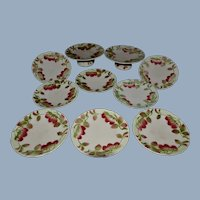Barbotine from france strawberry set 1900